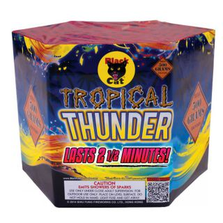 500 Gram Fountain Fireworks by BLACK CAT BC2207 Tropical Thunder