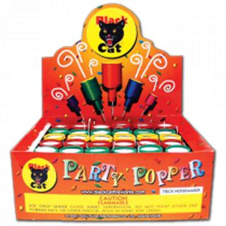 Novelty Fireworks by BLACK CAT BC341-20/72 Party Poppers Boxed