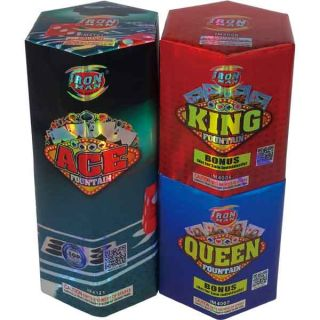 Ace Fountain | 3 Assorted 200 Gram Fountains by Iron Man Fireworks