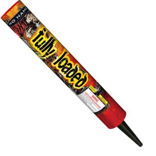 Fully Loaded 146 shots Barrage Roman Candle by No Name Fireworks