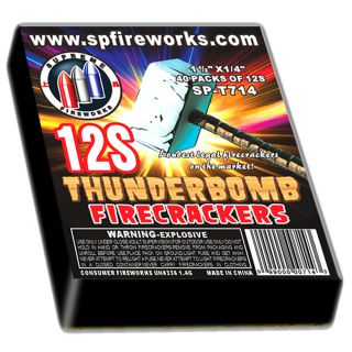 Firecrackers Fireworks for Sale by THUNDERBOMB SPT714 Thunderbomb Crackers 32/40/12