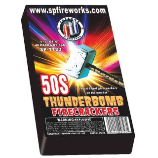 Firecrackers Fireworks for Sale by SUPREME SPT723 Thunderbomb Crackers 8/40/50