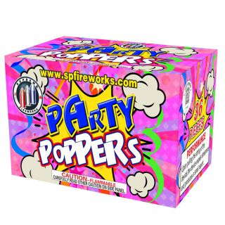 Novelty Fireworks by SUPREME SPT8502-6 Party Poppers 6pk